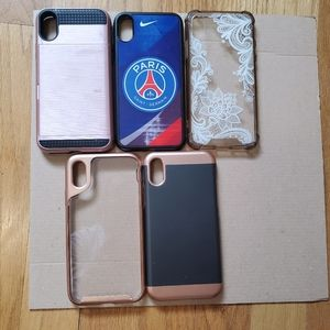 Lot of 5 iPhone X &XS cases